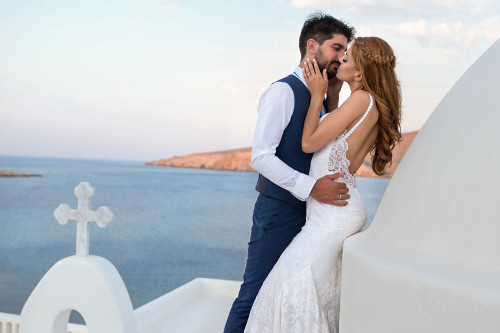 Elena & Thanasis a love story in Mykonos